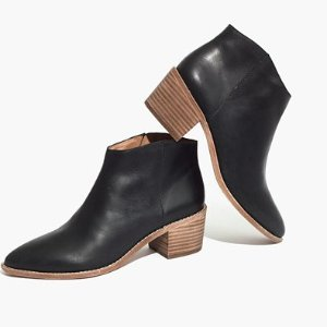 $69the justine boot in true black @ Madewell