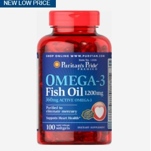 3 for $13.99Omega-3 Fish Oil 1200 mg (360 mg Active Omega-3)