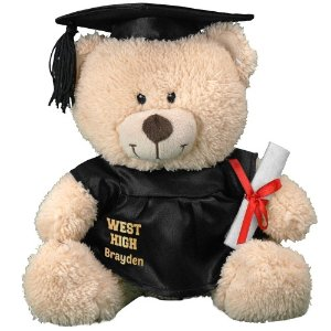 "$13.98 + Free Personalization11"" Cap and Gown Bear @ 800 Bear"