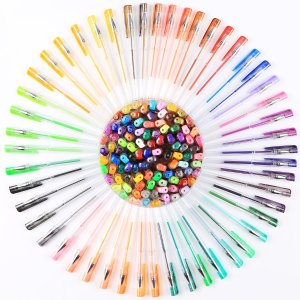 $12Smart Color Art 100 Colors Gel Pens Set for Adult Coloring Books Drawing Painting Writing