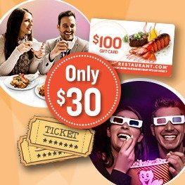 $302 Movie Tickets + $100 Restaurant.com eGift Card @ Restaurant.com