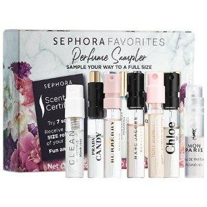 $25(价值$49)SEPHORA FAVORITES 7种香水小套装热卖 可兑换正装香水