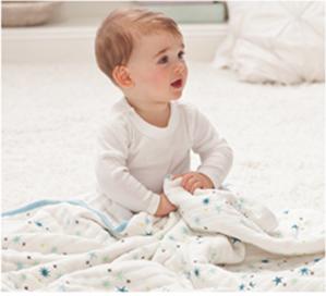 低至6折aden + anais 宝宝睡袋、纱布毯,围兜等特卖