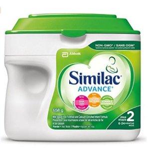 补货啦!$27.54包邮(原价$32.99)Similac Advance Step 2 不含转基因原料配方奶粉, 658g