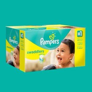 2件以上 额外8折 单片低至$0.12Pampers 尿布和湿巾促销 好久没这么便宜的尿布了