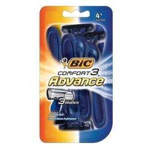 $2.38 包邮白菜价:BIC Comfort 3 Advance 男士剃须刀 4支入