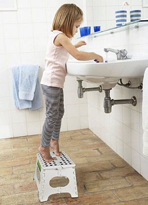 $10Greenco Super Strong Foldable Step Stool for Adults and Kids, 11