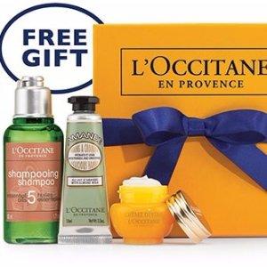 Free Gift AwaitsRedeem your gift @ L'Occitane