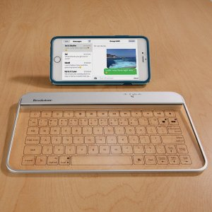 $39Transparent Wireless Bluetooth Glass Keyboard