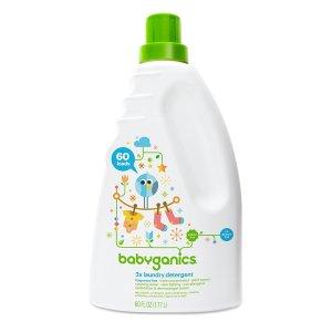 $8Babyganics 3X Baby Laundry Detergent, Fragrance Free, 60 Fluid Ounce