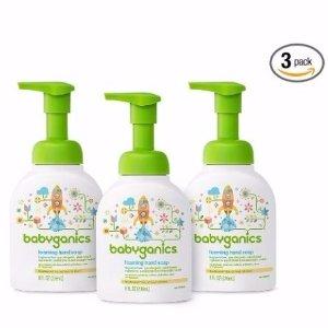 $9Babyganics Foaming Hand Soap, Fragrance Free, 8.45oz Pump Bottle (Pack of 3)