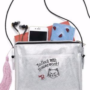 $15.9 / RMB100.6 直邮中美超可爱 Casselini Cat Book 送透明 猫咪 流苏单肩包 热卖