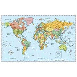小编推荐:英文版的世界地图,贴在家里的墙上,可以让你更加的了解地