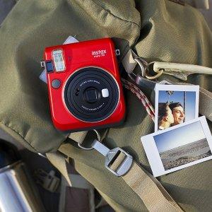 $50.88史低价:Fujifilm Instax Mini 70 拍立得相机 红色