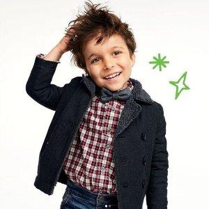 新款外套$7.7起史低OshKosh童装官网 儿童冬衣再降,低至2.25折,14岁以下都有