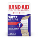 $1.97 Band-Aid Adhesive Bandages, Sheer, All One Size 40 sterile bandages