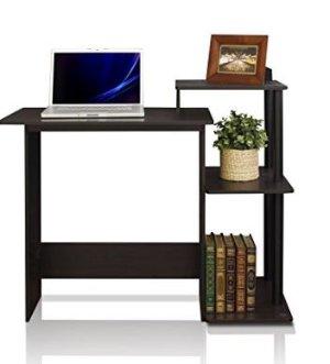 销量冠军$38.8Furinno 紧凑型电脑桌 深咖啡色