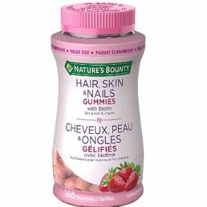 $11.89(原价$17.49)Nature's Bounty 自然之宝护发护甲防脱发软糖-165粒