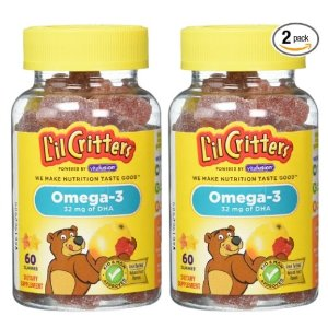 $3.88 L'il Critters Omega-3 DHA, 60 Count (Pack of 2)