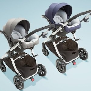 $384Maxi-Cosi Adorra 双向童车+汽车座椅套装,蓝色或灰色