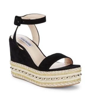 $59 Steve Madden Reeva Suede Bead Jute Platform Sandals