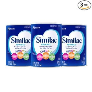 $58.13Similac Advance Infant Formula with Iron, Powder, One Month Supply, 36 Ounce (Pack of 3)
