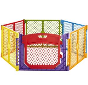 $55.33North States 彩色儿童安全围栏(6板装),室内外通用