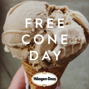 Free Cone Day@ Haagen-Dazs on May 9, 2017