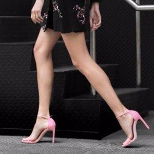 5折+免邮  半价收大幂幂同款Stuart Weitzman 官网精选女士美鞋促销 收一字带凉鞋、绑带鞋