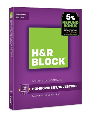 from $13.99H&R Block Tax Software Deluxe + State 2017 + Refund Bonus Offer