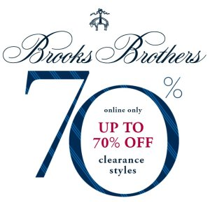 Up to 70% Off + 19.9% offSelect Men's Clothing Clearance @BrooksBrothers