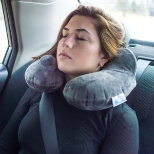 $0.99Soft Velvet Inflatable U Shaped Neck Travel Pillow With Travel Pouch+1 Bonus Pillow Cover,Economical,Easy Hand Inflation/Deflation,Portable,Lightweight for Support,Office,Camping,Outdoor