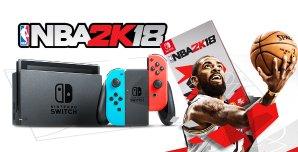 $309.99Nintendo Switch 红蓝配色主机 + NBA 2K18游戏套装