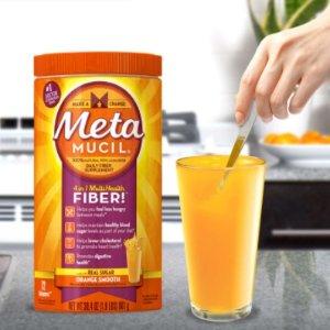 $11.97(原价$15.99)清肠排毒!Metamucil 吸油纤维素膳食纤维粉 香橙味 72次 425g