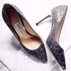 直减$125Jimmy Choo 超美高跟鞋,平底鞋 星星鞋亮片款码全