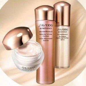 7-pc Skincare Bonus of Your ChoiceWith $75 Benefiance Purchase @ Shiseido