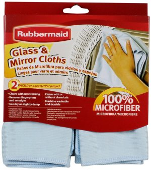 $14.40 (原价$24)Rubbermaid 超纤维玻璃清洁布 手印指纹去无踪