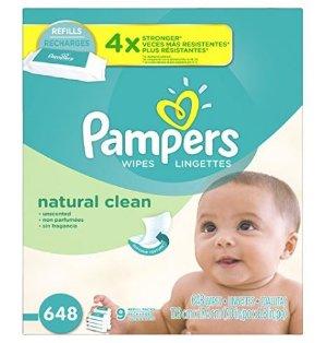 $13.29Pampers 天然清洁皮肤型婴儿湿巾 无香型648张包