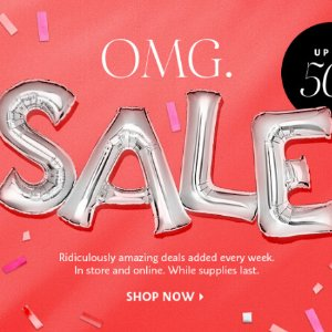Up to 50% OffOMG SALE @ Sephora.com