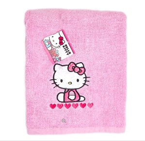 $4.99Adorable Hello Kitty 图案粉色纯棉浴巾