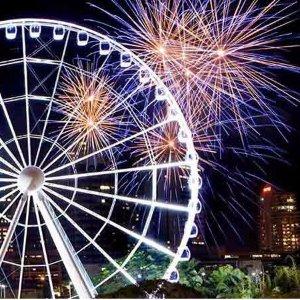 $12起 360度饱览城市风景团购价:The Wheel of Brisbane 布里斯班摩天轮门票