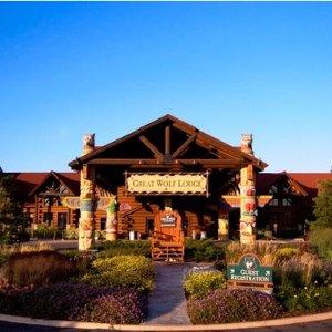 6-7人住宿+门票  低至$260折扣升级:Great Wolf Lodge 大狼屋水上乐园6.3折优惠