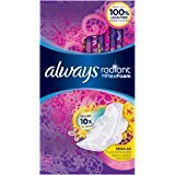 $16Always Radiant Regular Feminine Pads with Wings, Scented, 30 Count - Pack of 3 (90 Total Count)