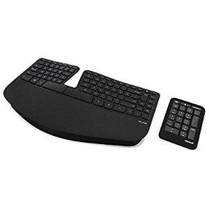 $55.17 无税包邮史低价:Microsoft Sculpt Ergonomic 无线人体工程学键盘